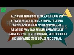 resume sle for customer service associate walgreens salary what is a customer service associate at walgreens youtube