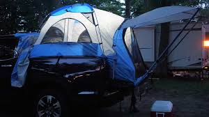 jeep compass tent burgess out in the woods with the honda ridgeline