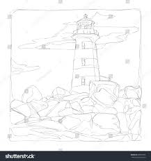 marine life line art continuous line stock vector 600853706