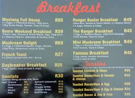 mustang restaurants mustangs pub grill menu menu for mustangs pub grill meer en