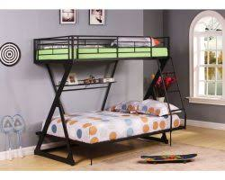 Black Metal Futon Bunk Bed Zazie Black Metal Twin Futon Bunk Bed Bookshelf