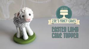 Decorating Easter Lamb Cake by Fondant Lamb Cake Topper How To Make A Lamb Figure Cute Animal