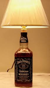 i used a jack daniels bottle and made a lamp best part is it