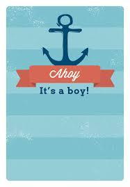 ahoy it u0027s a boy free printable baby shower invitation template