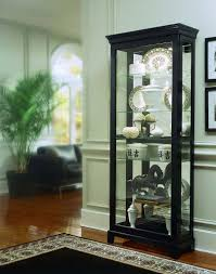 oxford black curio cabinet by pulaski furniture for the home