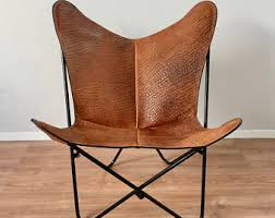 Folding Butterfly Chair Tripolina Butterfly Chair Premium Leather And Wood Folding