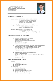 Best Resume University Student by 7 Curriculum Vitae Format For Students Mystock Clerk