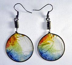 paper ear rings watercolor paper earrings simple and beautiful jewelry