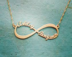 real gold name necklace white gold infinity name necklace 2 name infinity 2