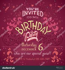many stock birthday party invitation card vector creation design invitation card for birthday party choice image