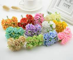 cheap roses 6pcs silk cheap roses artificial flowers scrapbooking for wedding