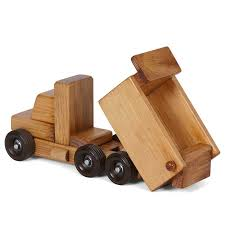 amish made small wooden dump truck