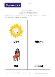 free worksheets opposites worksheets for kids free math