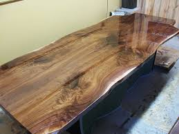 live edge table top woodrich walnut live edge slab table tops built to your needs