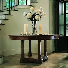 Hallway Table With Drawers Round Hall Table With Drawers Large Round Foyer Table Round Foyer