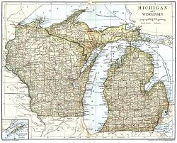 Map Of Western Wisconsin by Map Of Wisconsin And Upper Michigan Michigan Map