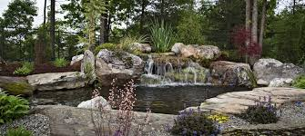 Backyard Pond Pictures by Custom Water Landscapes Charlotte Nc Peaceful Ponds