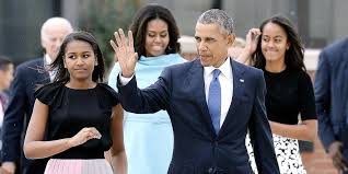 Obama First Family by Look Sasha And Malia Are All Grown Up The Obamas Return To D C