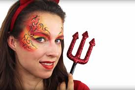 Womens Devil Halloween Costumes Uk Easy Devil Costume Ideas Simple Makeup Tutorial Party Delights