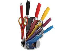 coloured kitchen knives set 8 pcs multi colour waltmann und sohn kitchen knife set with