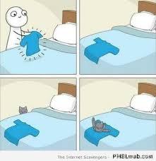 Cartoon Cat Memes - 33 funny cat logic cartoon pmslweb