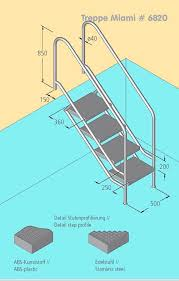 pool treppe treppe miami vario für den pool mit edelstahl stufen modell 08 1
