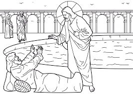 coloring pages of peter and john heal a lame man coloring home