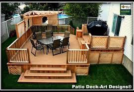 Backyard Decks And Patios Ideas Outdoor Inspiring Outdoor Deck Design With Cozy Small Patio