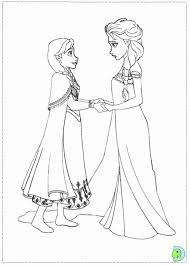 elsa anna coloring pages dress clothes coloring