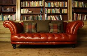 Tartan Chesterfield Sofa Edmund Vintage Brown Leather Sofa Chesterfield Company