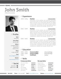 Modern Resume Samples by Modern Resume Template Trendy Resumes