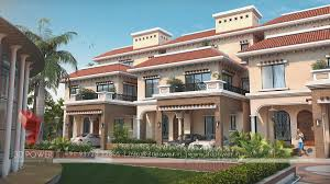 3d township architectural design rendering contemporary township