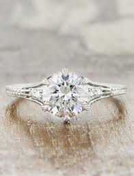 vintage design rings images Kenzi vintage style diamond ring on intricate band ken dana jpg