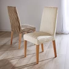 housses de chaises extensibles blancheporte housse chaise extensible jacquard lot de 2 maison