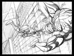 ultimate spiderman coloring pages kids coloring
