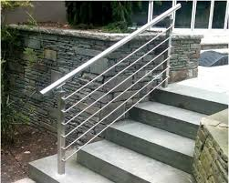 Steps With Handrails Amazing Steel Handrails For Outdoor Steps Designs Mezzanine