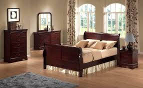 Cherry Wood Sleigh Bedroom Set Austin Group Bordeaux King Transitional Cherry Sleigh Bed