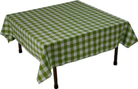 dining room cool gingham tablecloth decor with long wood teak