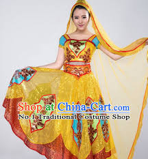 Chinese Halloween Costumes Chinese Classical Girls Dancewear Dance Costumes Competition