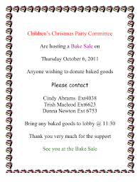 bake sale u2013 children u0027s christmas party committeeopseu local 468