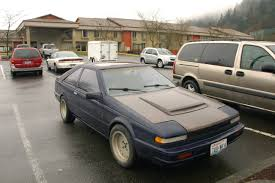 nissan black car old old parked cars 1985 nissan 200sx turbo