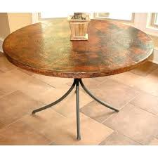 Copper Dining Room Tables Copper Top Dining Table Designer Oxidized Copper Top Dining Table