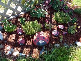 Garden With Rocks Ladybug Rocks For Your Garden A S Take