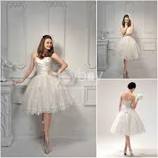 made sweetheart applique ivory short wedding dresses