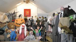 how to get in the halloween spirit huge 32 animatronic collection spirit halloween and