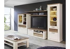 Wohnzimmerschrank Folieren Wohnwand Pinia Weiss Eiche Antik Woody 77 00573 Woody Möbel