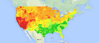 map us gas prices us cost of living heat map usa national gas price heat map