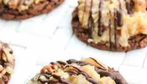 german chocolate cake cookie bars a dash of sanity