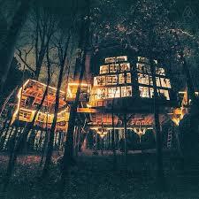 Bolt Farm Enchanted Treehouse At Night Airbnb Walhalla South