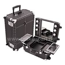 makeup case with lights and mirror mini studio makeup case with lights mirror black faux leather